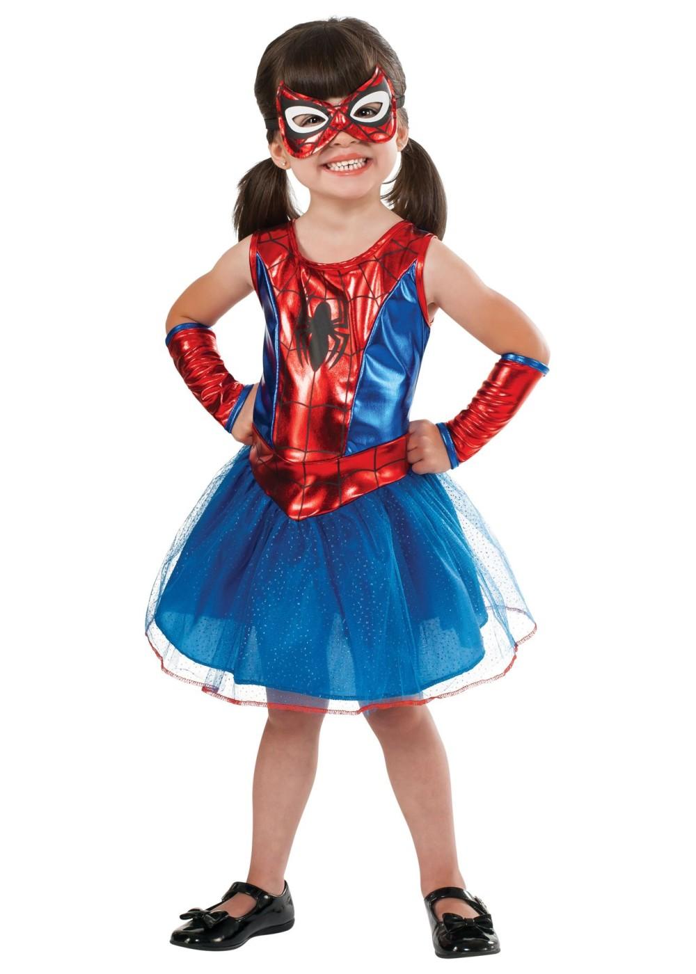 Girls Toddler Spidergirl Costume Superhero Costumes