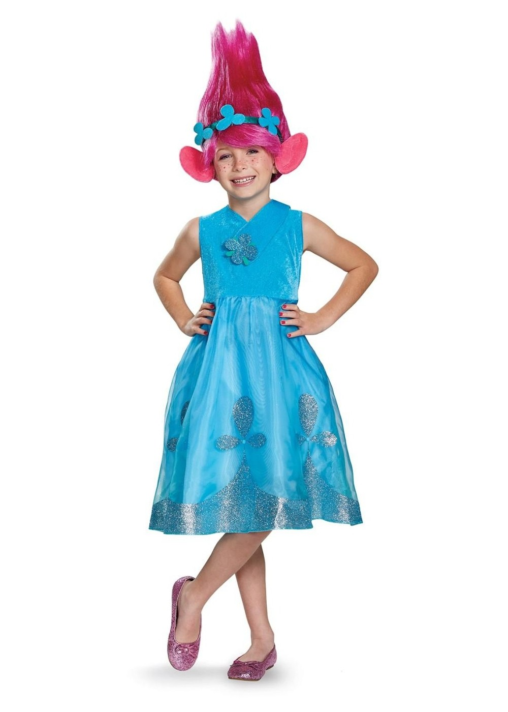 Kids Trolls Poppy Girls Costume