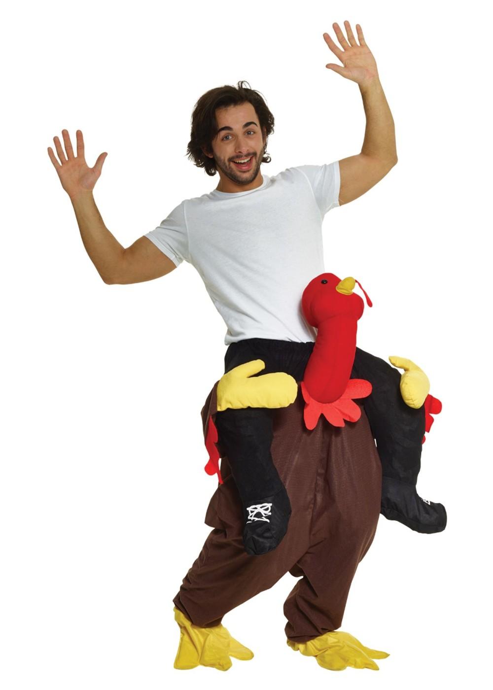 Turkey Piggyback Mens Costume
