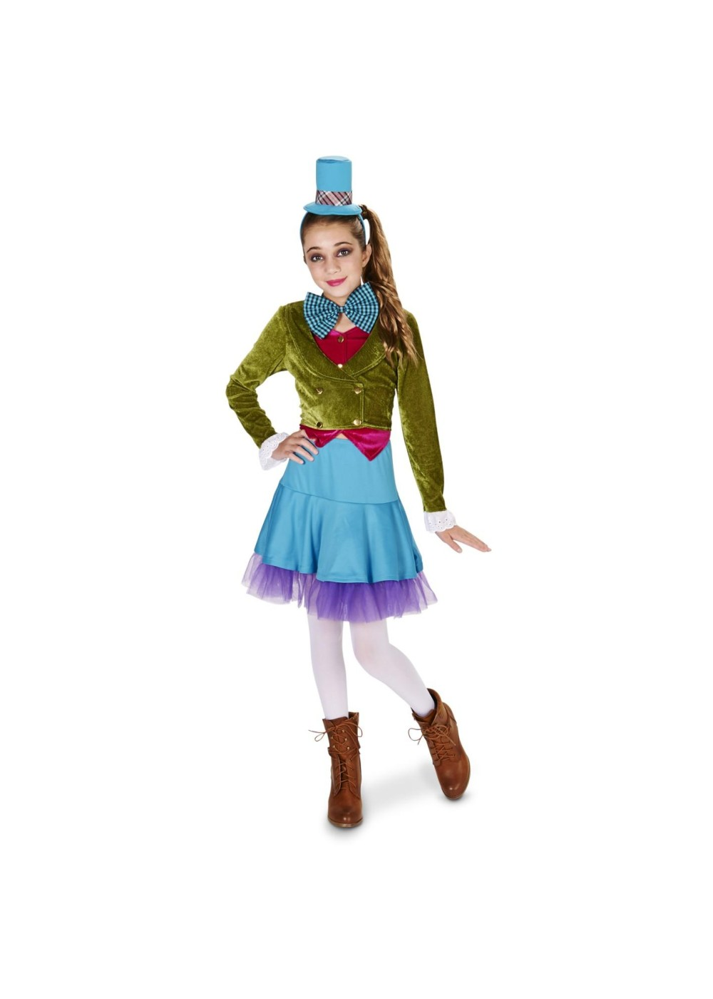 Kids Tween Girls Mad Hatter Costume