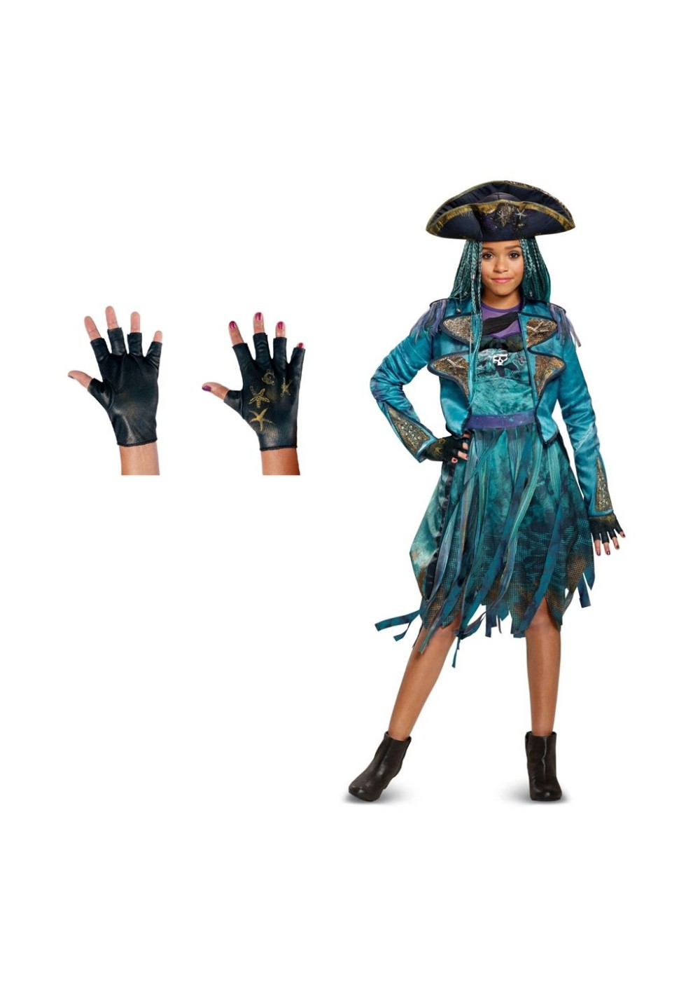 Descendants 2 Uma Girls Costume And Gloves Set Disney
