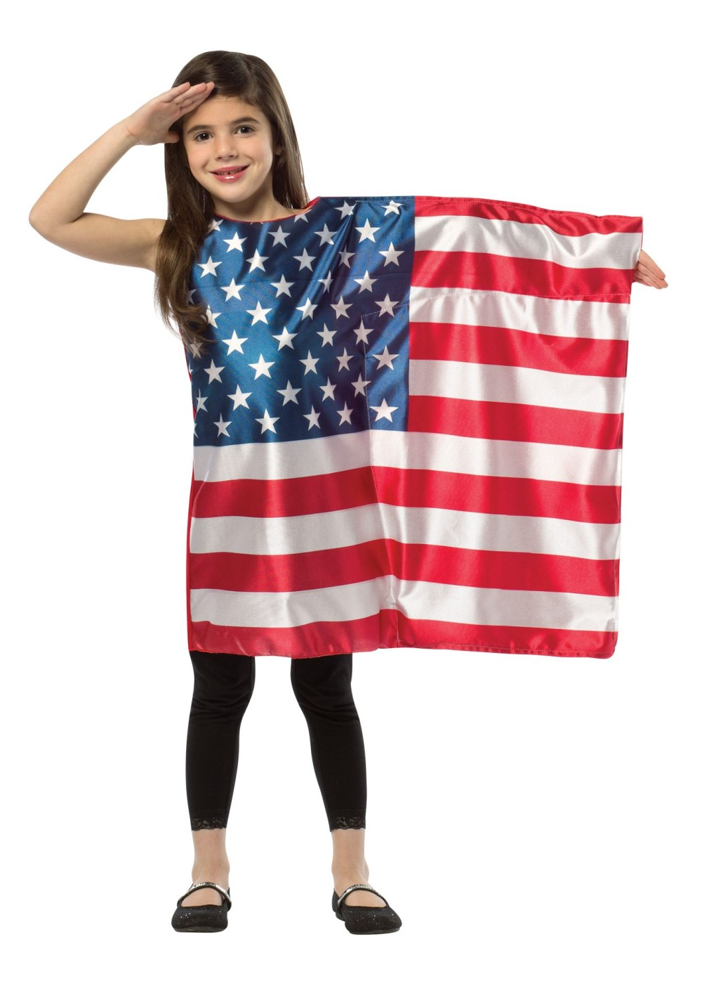 Kids Girls Usa Flag Dress Costume