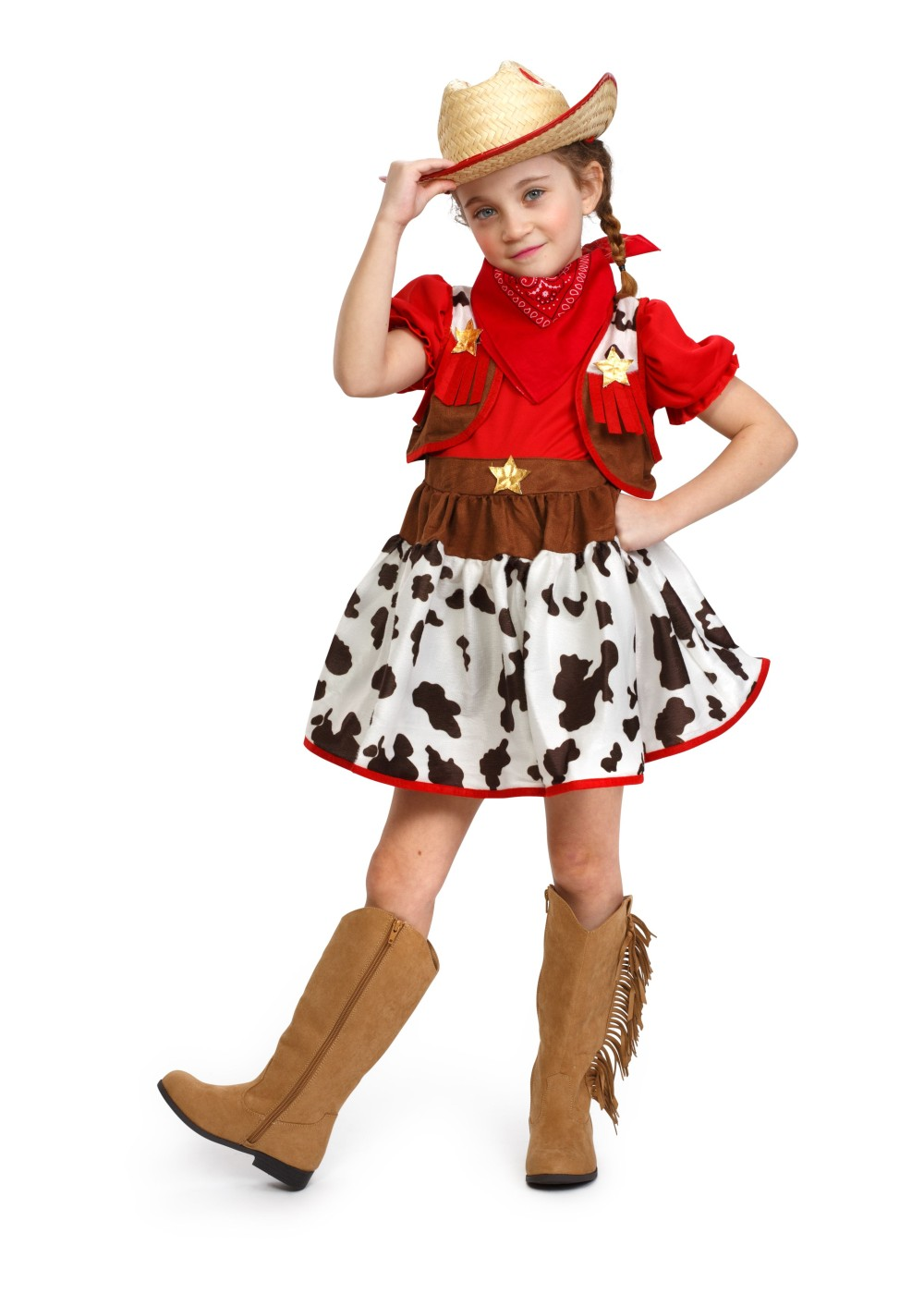 Kids Western Rodeo Cowgirl Costume