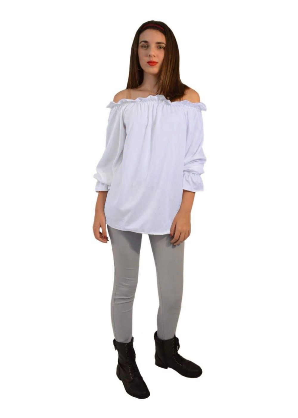 Renaissance Long Sleeve White Blouse Women Shirt