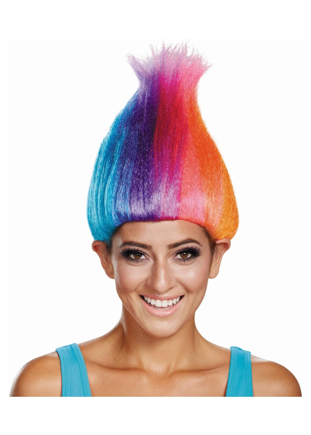 Rainbow Women Trolls Wig Wigs