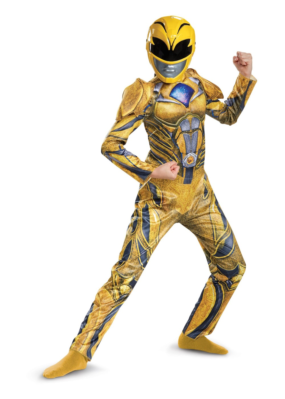 Power Rangers Movie Yellow Ranger Kids Costume Superhero