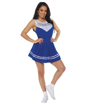 Blue Cheerleader Women Costume