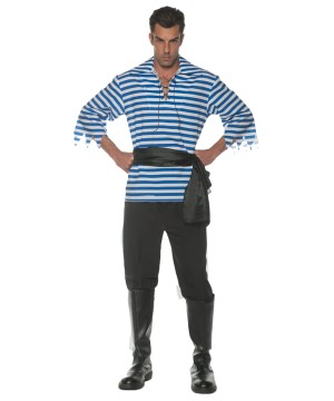 Blue Men Pirate Costume