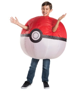 Boys Inflatable Poke Ball Costume