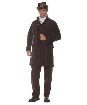 Mens Brown Steampunk Coat