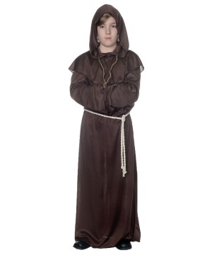 Brown Monk Kids Robe Costume