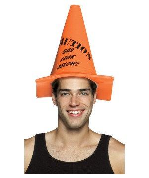 Caution Gas Cone Hat