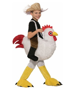 Chicken Rider Boys Costume