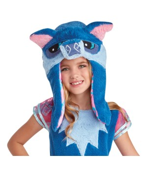 Child Blue Wolf Hood Accessory