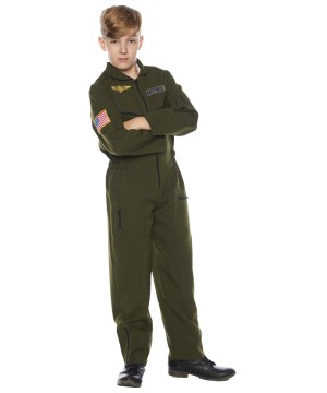 Kids Flight Suit Costume