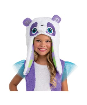 Kids Purple Panda Accessory Hood