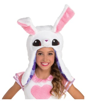 Kids White Bunny Hood Accessory