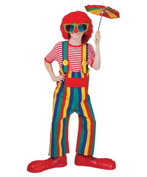 Kidss Striped Clown Overalls