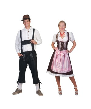 German Tirol Couples Costume Set