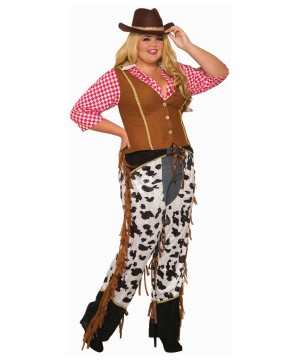 Cowgirl At the Ranch Women's plus Costume