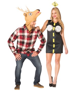 Deer and Headlights Couple Costume