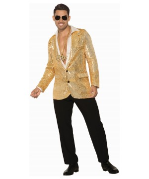 Gold Disco Sequin Men Blazer