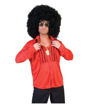 Mens Red Disco Party Shirt