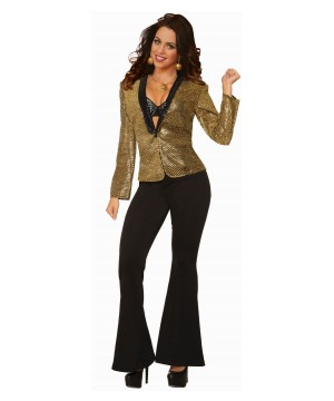 Gold Disco Women Blazer