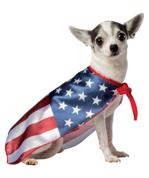 Dog American Flag Cape Costume