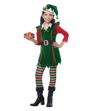 Festive Elf Girl Costume
