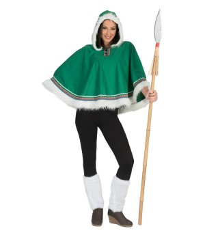 Eskimo Woman Poncho Costume