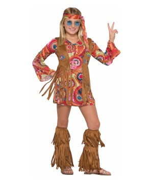 girls far out hippie costume