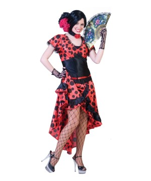 Womens Flamenco Dress Costume