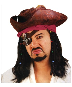 Carribean Pirate Men Wig