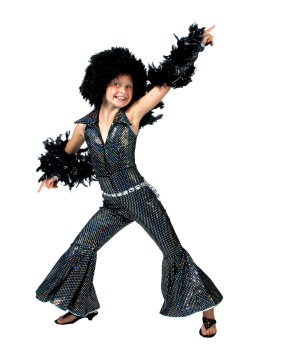 Girls 70s Disco Boogie Costume