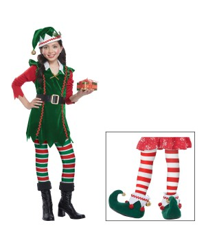 Girls Toy Helper Elf Costume Set