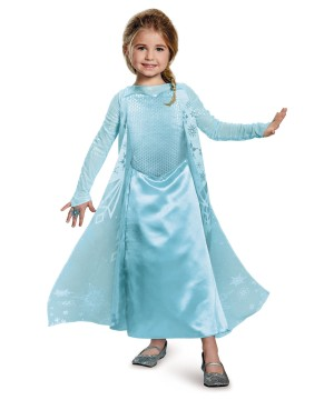 Girls Frozen Queen Elsa Costume