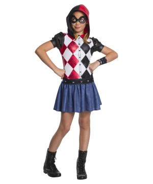 Girls Harley Quinn Hoodie Dress