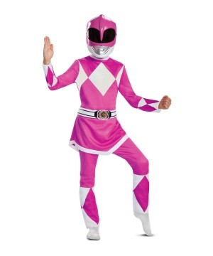 Girls Mighty Morphin Pink Ranger Costume