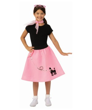 Girls Poodle Print Skirt