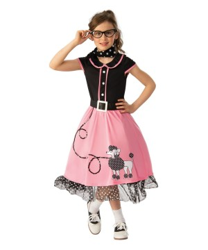 Girls Poodle Skirt Sweetheart Costume