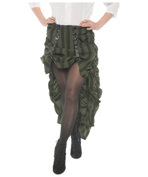 Green Steampunk Women Skirt