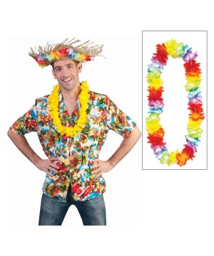 Tropical Paradise Sunset Shirt With Lei
