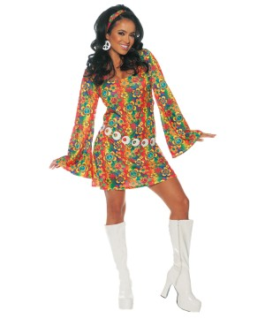 Hippie Flower Women Costume