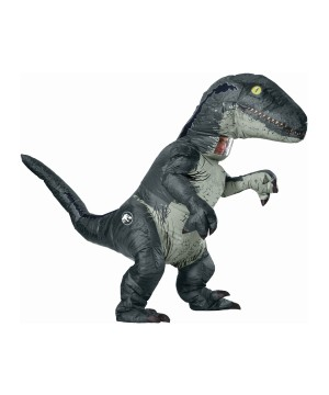 Inflatable Velociraptor Dinosaur Costume With Sound Effects