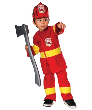 Junior Firefighter Rescuer Costume