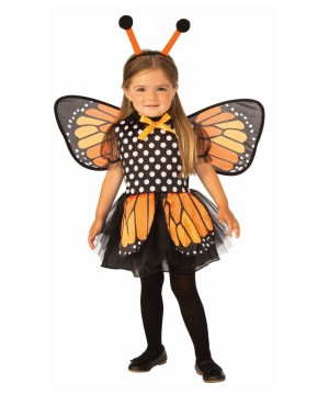 Little Girls Fluttering Butterfly Costume