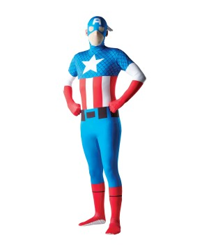 Mens Captain America Jumpsuit