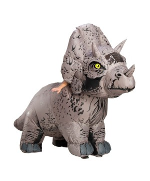Mens Triceratops Inflatable Costume