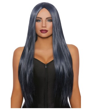 Midnight Blue Long Wig